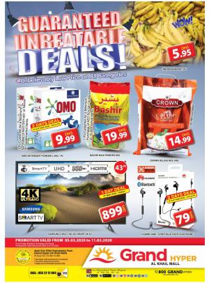 Guaranteed Unbeatable Deals - Grand Hyper Al Khail Mall