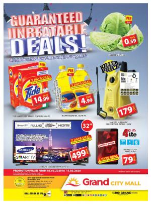 Guaranteed Unbeatable Deals - Grand City Mall