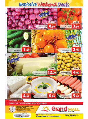 Explosive Weekend Deals - Grand Mall Sharjah
