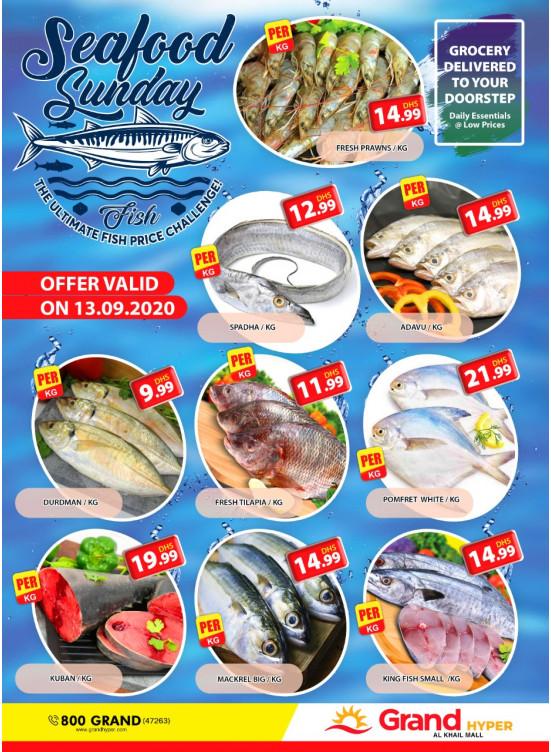 Seafood Sunday - Grand Hyper Al Khail Mall