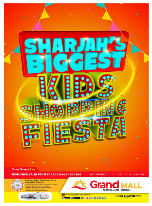 Biggest Kids Shopping Fiesta - Grand Mall Sharjah