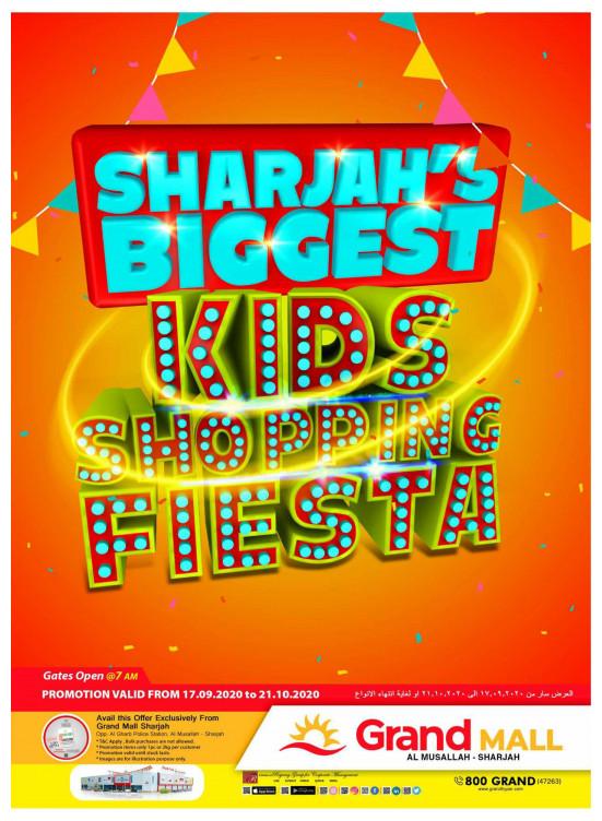 Biggest Kids Shopping Fiesta - Grand Mall Sharjah