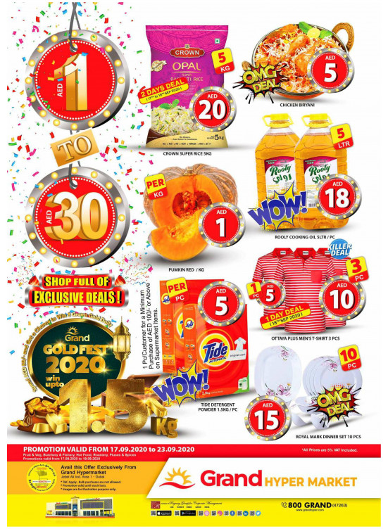 Gold Fest 2020 - Grand Hypermarket Jebel Ali