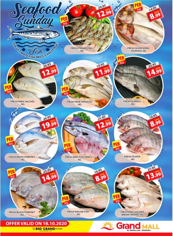 Seafood Sunday - Grand Mall Sharjah