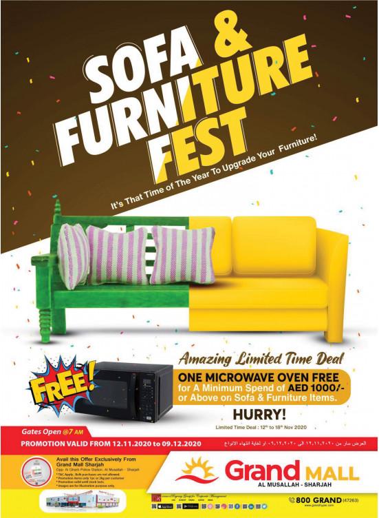 Sofa & Furniture Festival - Grand Mall Sharjah