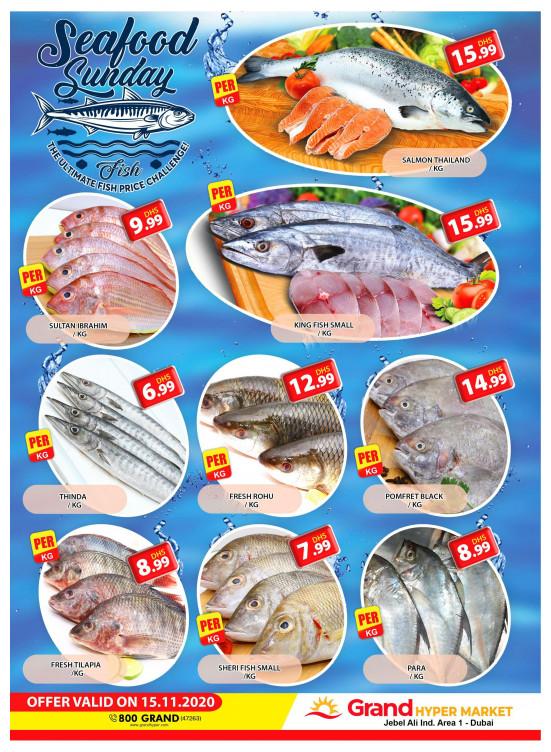 Sunday Seafood - Grand Hypermarket Jebel Ali