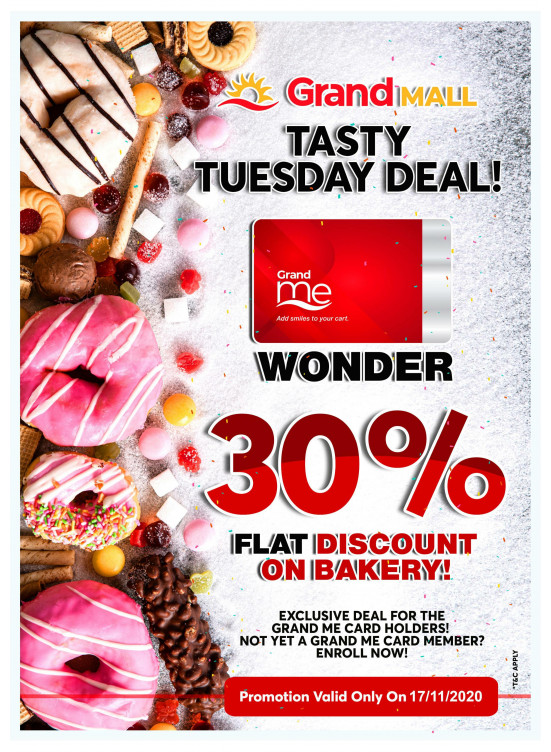Tasty Tuesday Deal - Grand Mall Sharjah