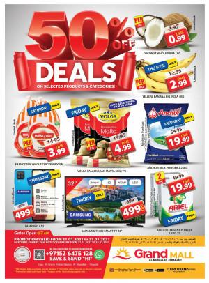 50% Off Deals - Grand Mall Sharjah