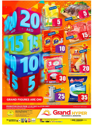 5, 10, 15 & 20 AED Deals - Grand Hyper Muhaisnah