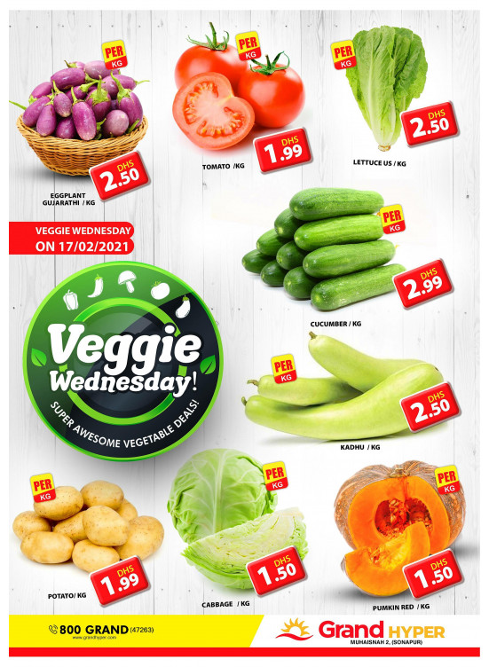 Veggie Wednesday - Grand Hyper Muhaisnah