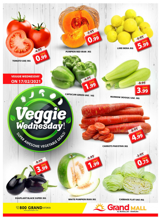 Veggie Wednesday - Grand Mall Sharjah