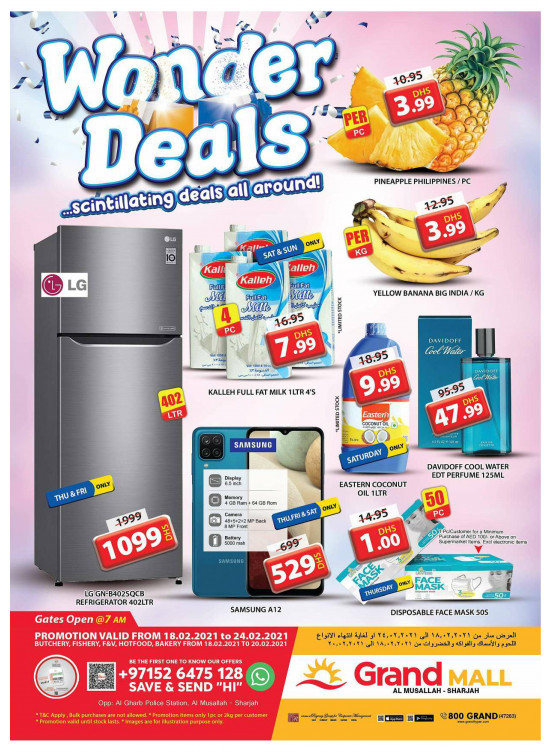 Wonder Deals - Grand Mall Sharjah