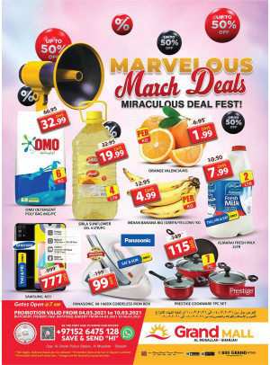 Marvelous March Deals - Grand Mall Sharjah