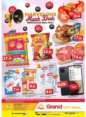 Marvelous March Deals - Grand City Mall