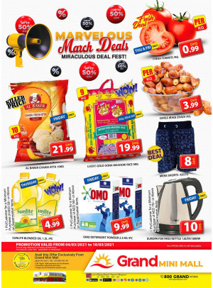 Marvelous March Deals - Grand Mini Mall