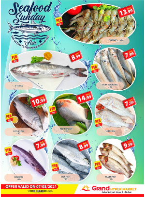 Seafood Sunday - Grand Hypermarket Jebel Ali