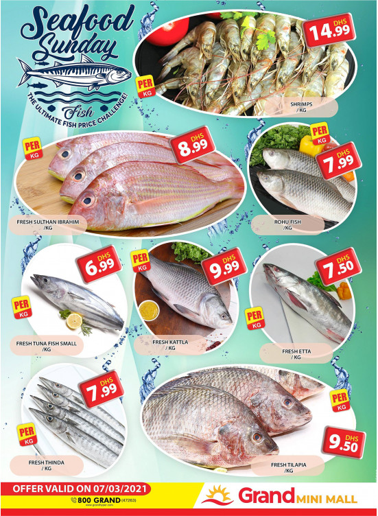 Seafood Sunday - Grand Mini Mall
