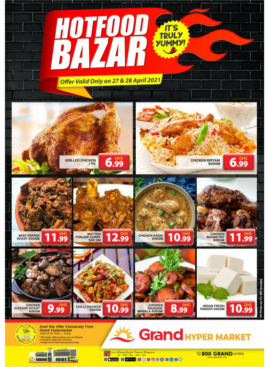 Hot Food Bazar - Grand Hypermarket Jebel Ali