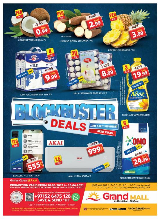 Blockbuster Deals - Grand Mall Sharjah