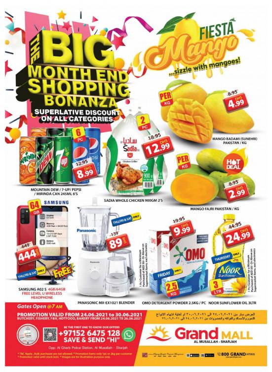 Big Month End Shopping Bonanza - Grand Mall Sharjah
