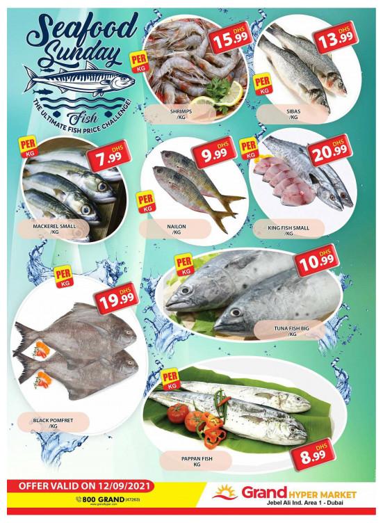 Seafood Sunday - Grand Hypermarket Jebel Ali