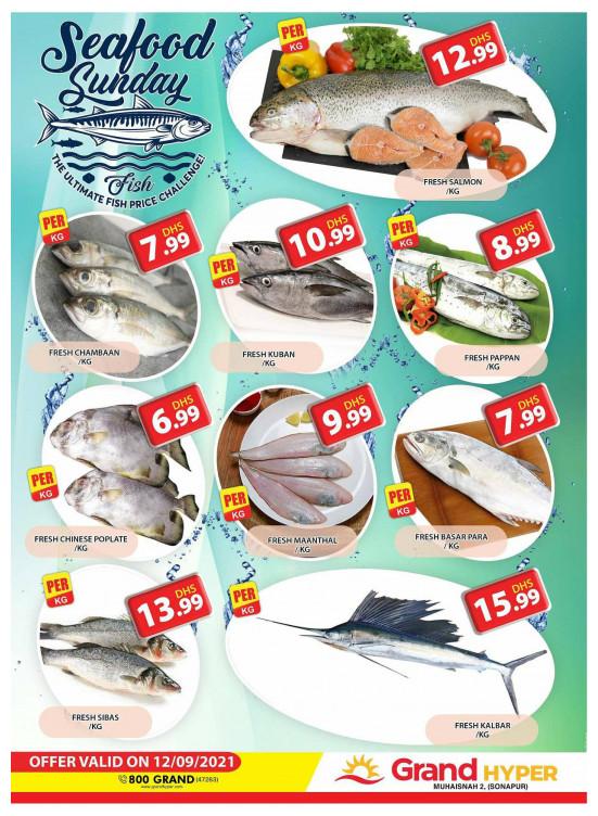 Seafood Sunday - Grand Hyper Muhaisnah