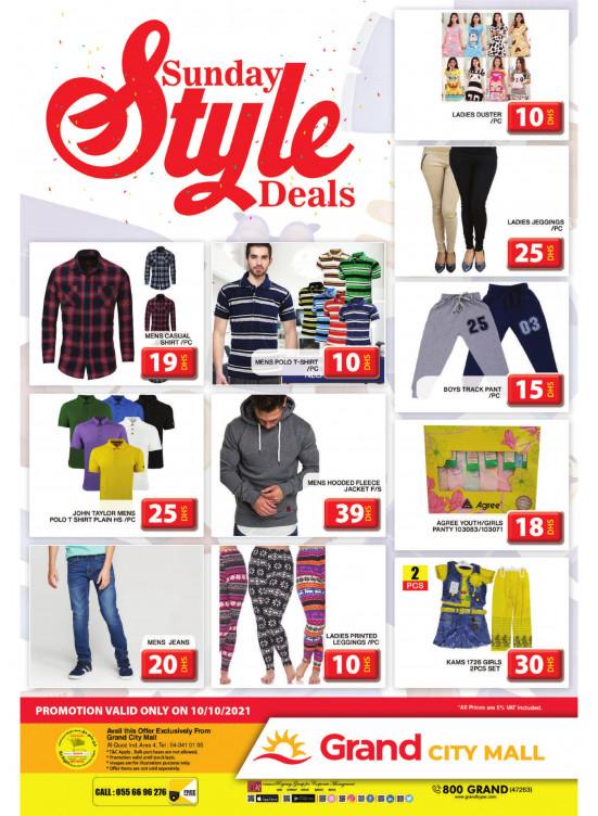 Sunday Style Deals - Grand City Mall