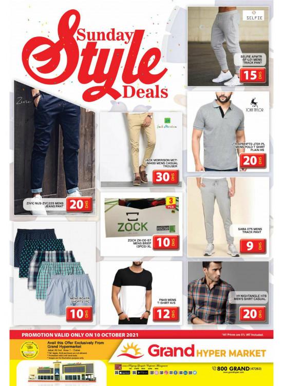 Sunday Style Deals - Grand Hypermarket Jebel Ali