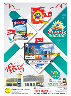 Grand Opening Offers - Grand Hypermarket Jabel Ali