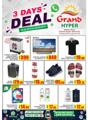 3 Days Deals - Grand Hyper Muhaisnah