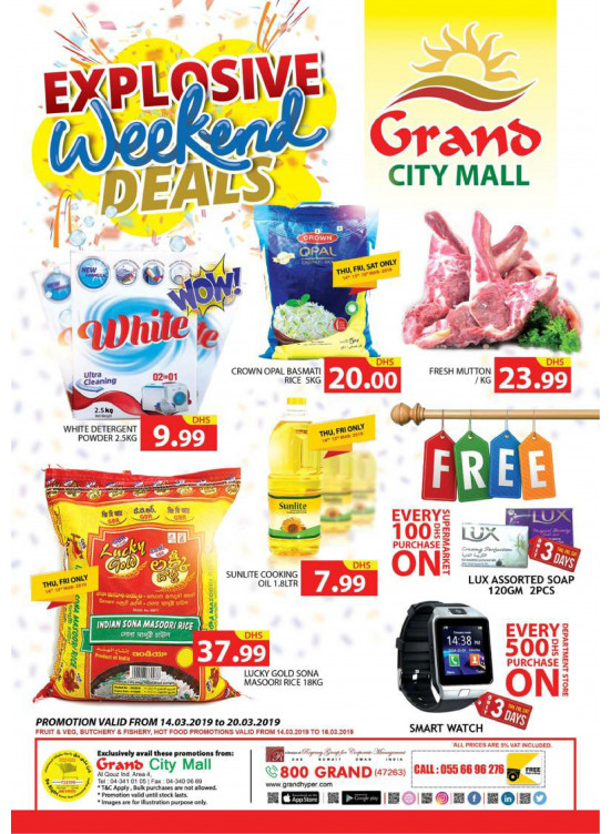 Explosive Weekend Deals - Grand City Mall