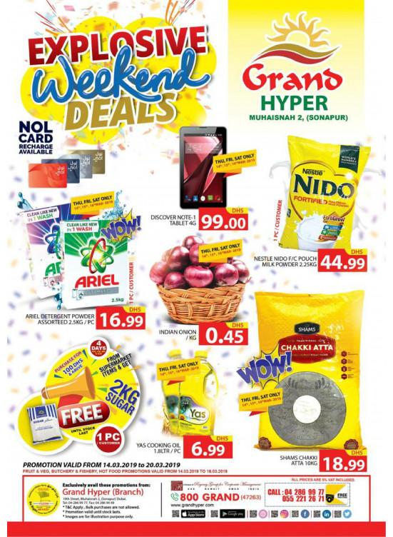 Explosive Weekend Deals - Grand Hyper Muhaisnah
