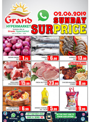 Sunday Surprice - Grand Hypermarket Jebel Ali
