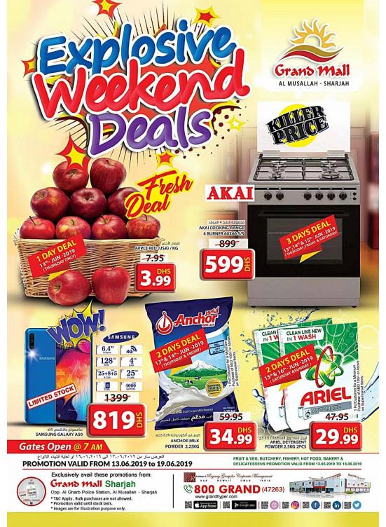 Explosive Weekend Deals - Grand Mall Sharjah