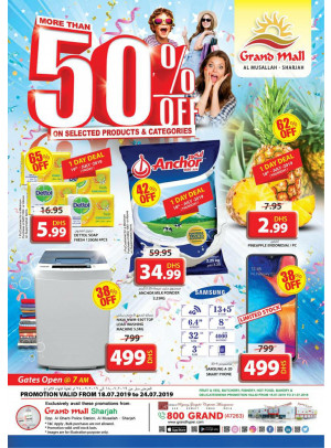 More Than 50% Off - Grand Mall Sharjah