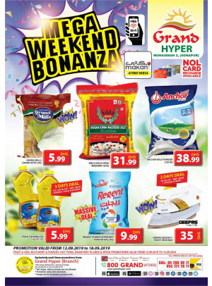 Mega Weekend Bonanza - Grand Hyper Muhaisnah