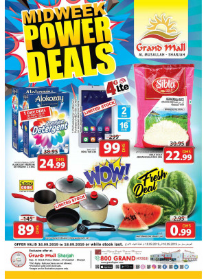 Midweek Power Deals - Grand Mall Sharjah