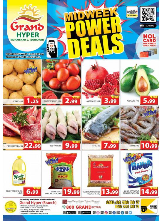 Midweek Power Deals - Grand Hyper Muhaisnah