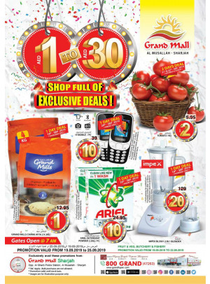 1 To 30 AED Offers - Grand Mall Sharjah