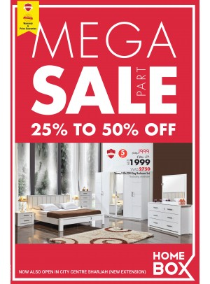 Mega Sale From 25 To 50% Off