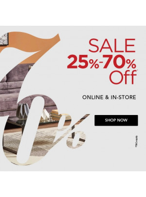 Big Sale 25% To 70%