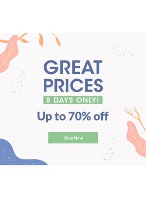 أسعار رائعة - خصم حتى 70%