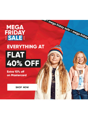 Mega Friday Sale - Flat 40% Off