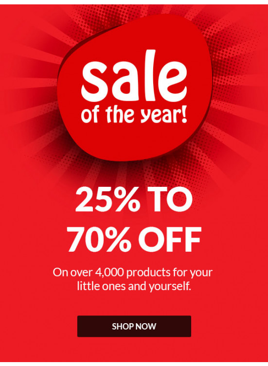 Sale of The Year 25 - 70% Off