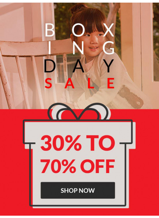 Boxing Day Sale 30 To 70% Off