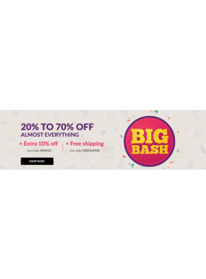 Big Bash 20% To 70% Off