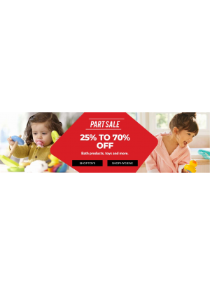 25% To 70% Off on Bath Products & Toys