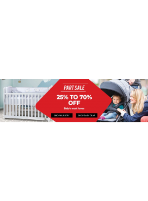 25% To 70% Off on Baby's Must Haves