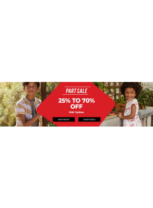 25% To 70% Off on Kids' Fashion
