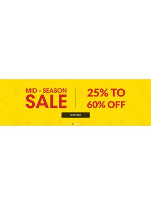تنزيلات منتصف الموسم - خصم 25% حتى 60%